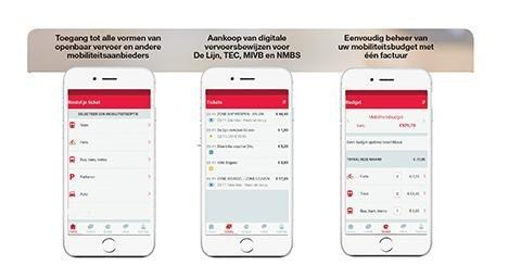 3 schermen op mobiel