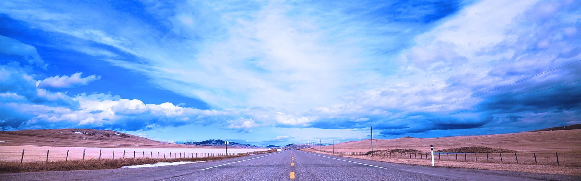 Blue road