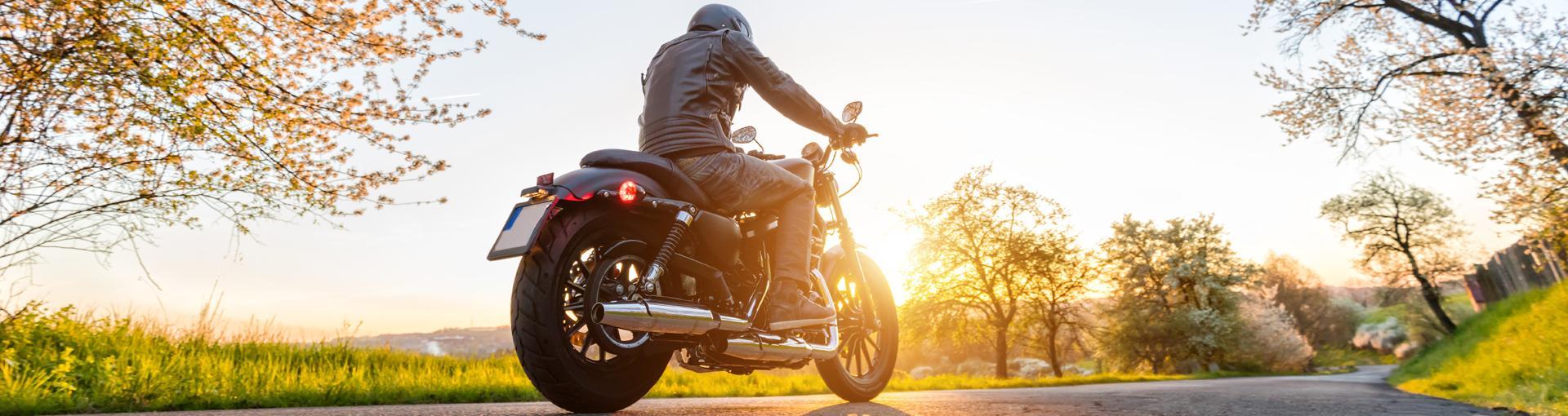 Moto, soleil, nautre