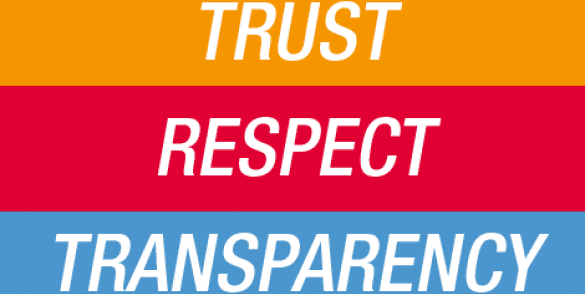 Valeurs Trust Respect transparency